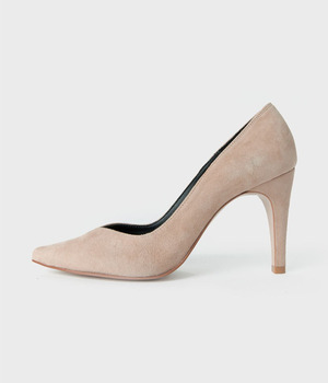 Ditole's Suede V-cut Heel 디토레 베이지스웨이드 브이컷힐