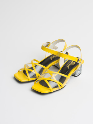 yellow lune x strap sandle