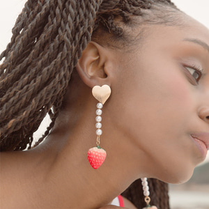 Lovely Strawberry Drop Earrings