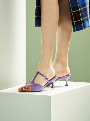 ws192033003- violet pointed mule